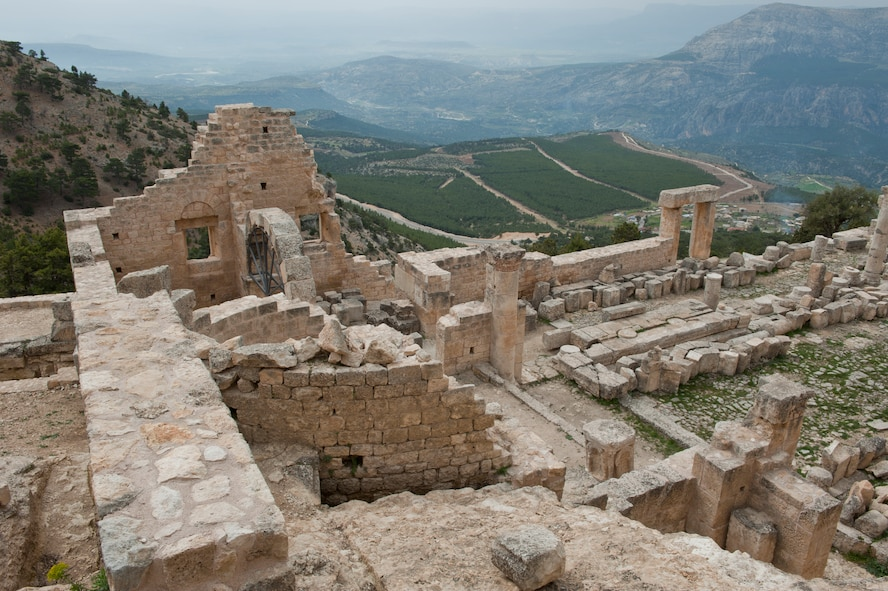 The deserted Alahan Monastery clings to a mountainside in Turkey, March 31, 2013. The reason for the desertion of the monastery approximately 1,400 years ago remains a mystery to this day. Alahan is about a four and a half hour drive from Incirlik Air Base. (U.S. Air Force photo by Senior Airman Daniel Phelps/Released)