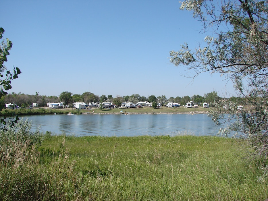 The East Totten Trail Campground is among the several public recreation areas on Lake Sakakawea near Riverdale, N.D.