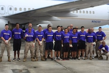 Marine Corps Activity Guam and friends participates in the United Plane Pull sponsored by the Onedera retail store. The plane pull had many prizes to give and was divided between co-ed and mens teams, with an optional truck-pull to the participating teams.