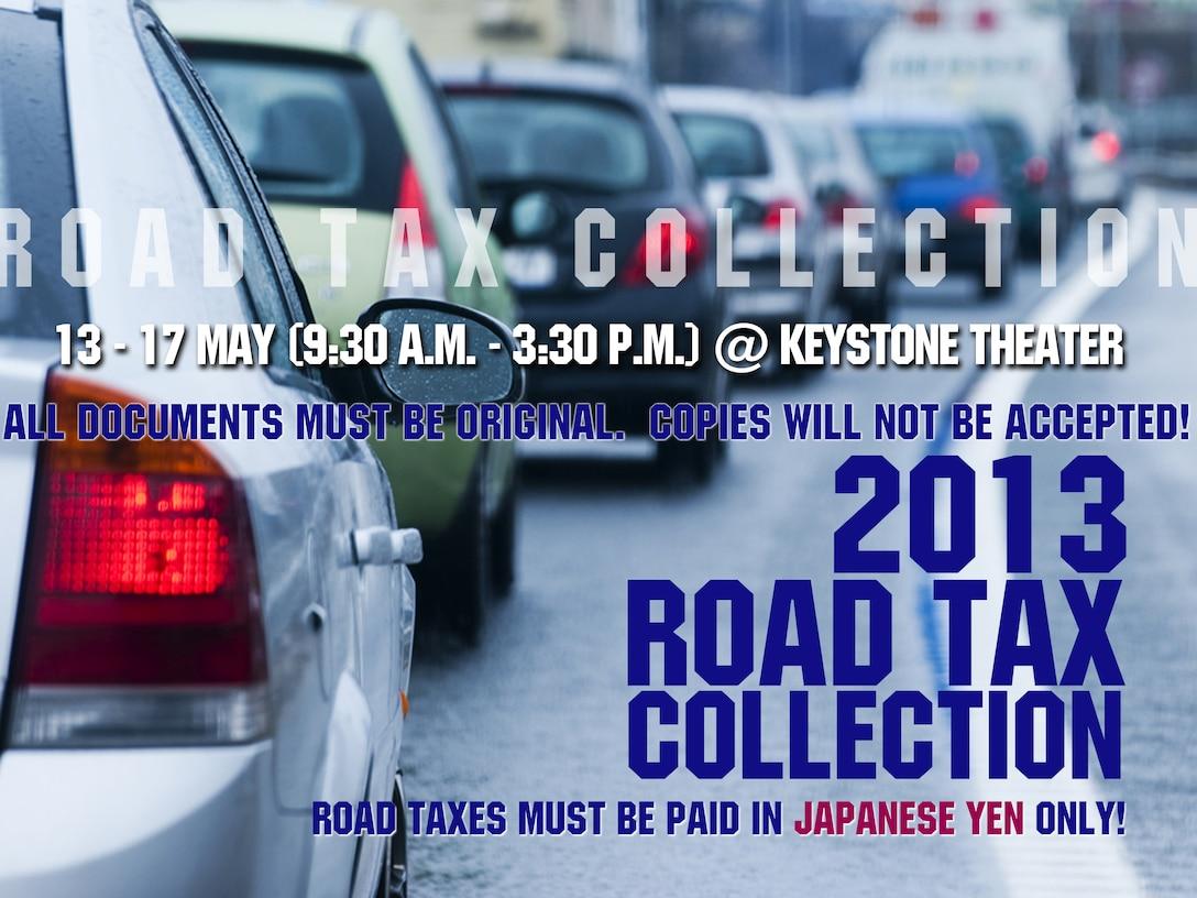 Okinawa Road Tax collection 2013 (U.S. Air Force graphic by Naoko Shimoji)