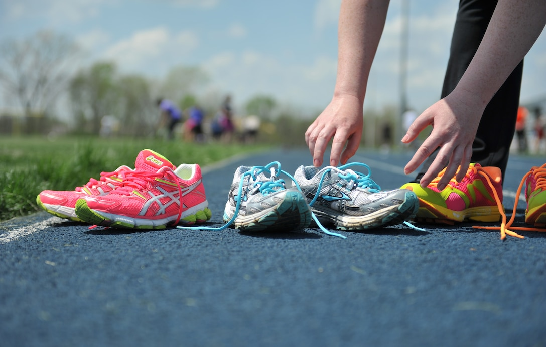 Different styles of running shoes abound in today's market. Since everyone's feet are different, purchasing the right shoe is an essential key to maximizing run performance. (U.S. Air Force photo by Heidi Hunt/Released)