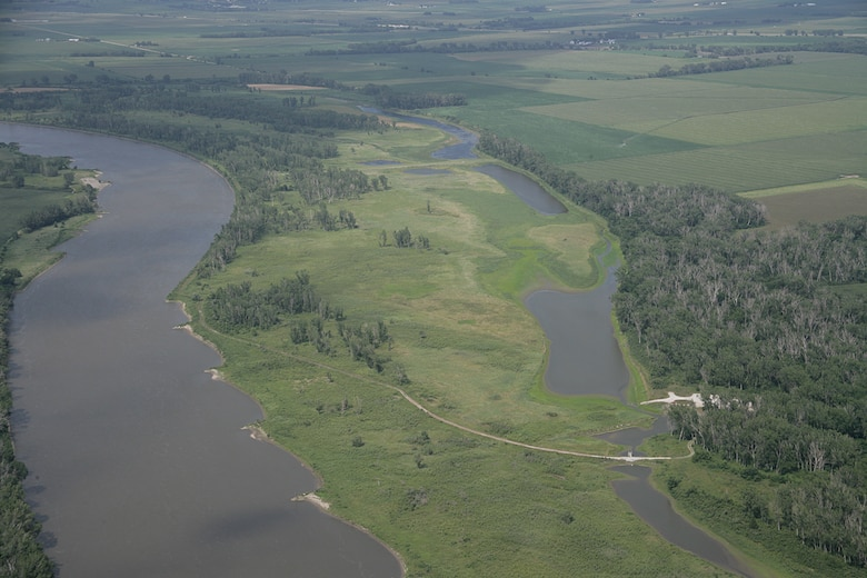 An aerial view of the Louisville Bend MRRP site.