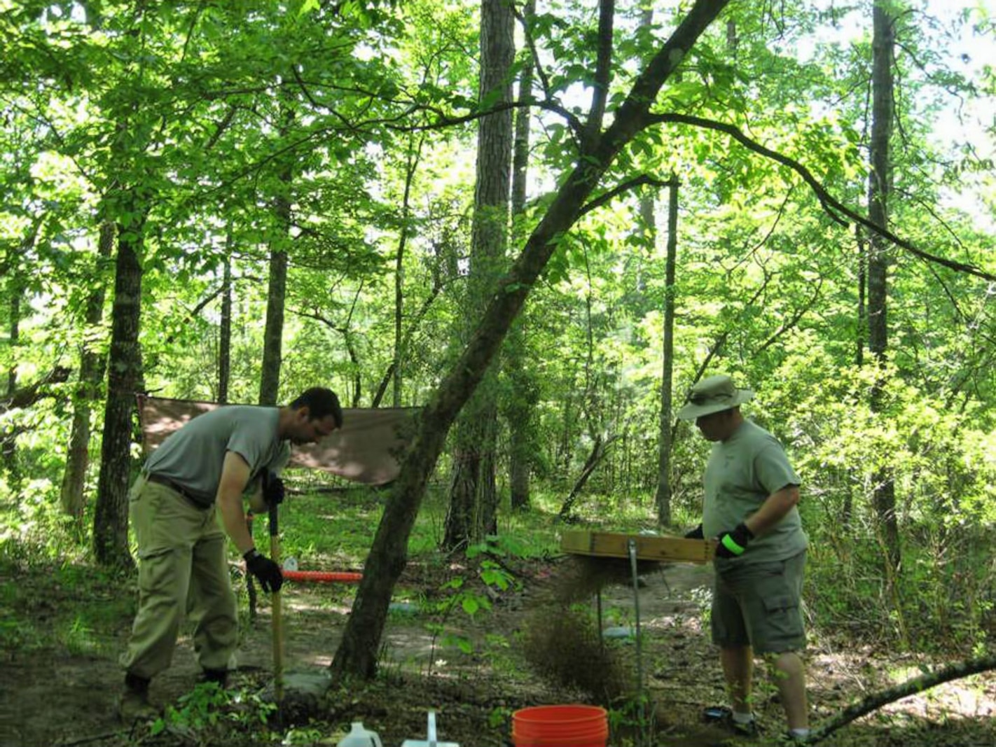 Phase I archaeological survey methodology, shovel testing, aboard Marine Corps Base Camp Lejeune, N.C.