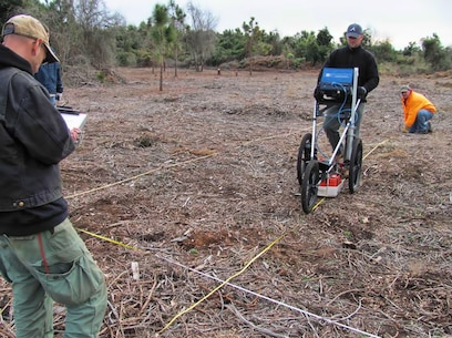 Ground penetrating radar testing for buried historic features aboard Marine Corps Base Camp Lejeune, N.C.