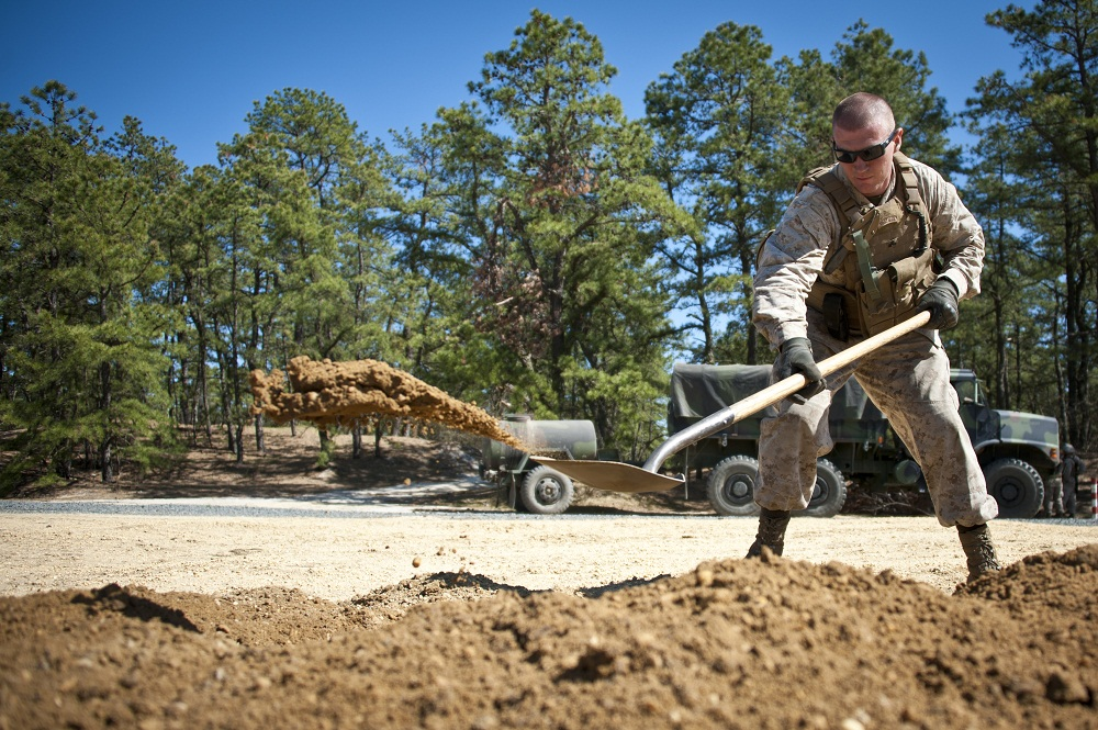 Golf Battery 3 14 Marines Send Shells Down Range