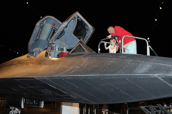 DAYTON, Ohio (05/2013) -- Visitors get an up-close look at the SR-71 cockpit during Space Fest on May 4 at the National Museum of the U.S. Air Force. (U.S. Air Force photo by Don Popp)