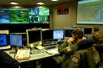 U.S. Northern Command personnel will monitor the Super Bowl on Feb. 5 in the joint operations center, the command's state-of-the-art communications and situational-awareness hub.