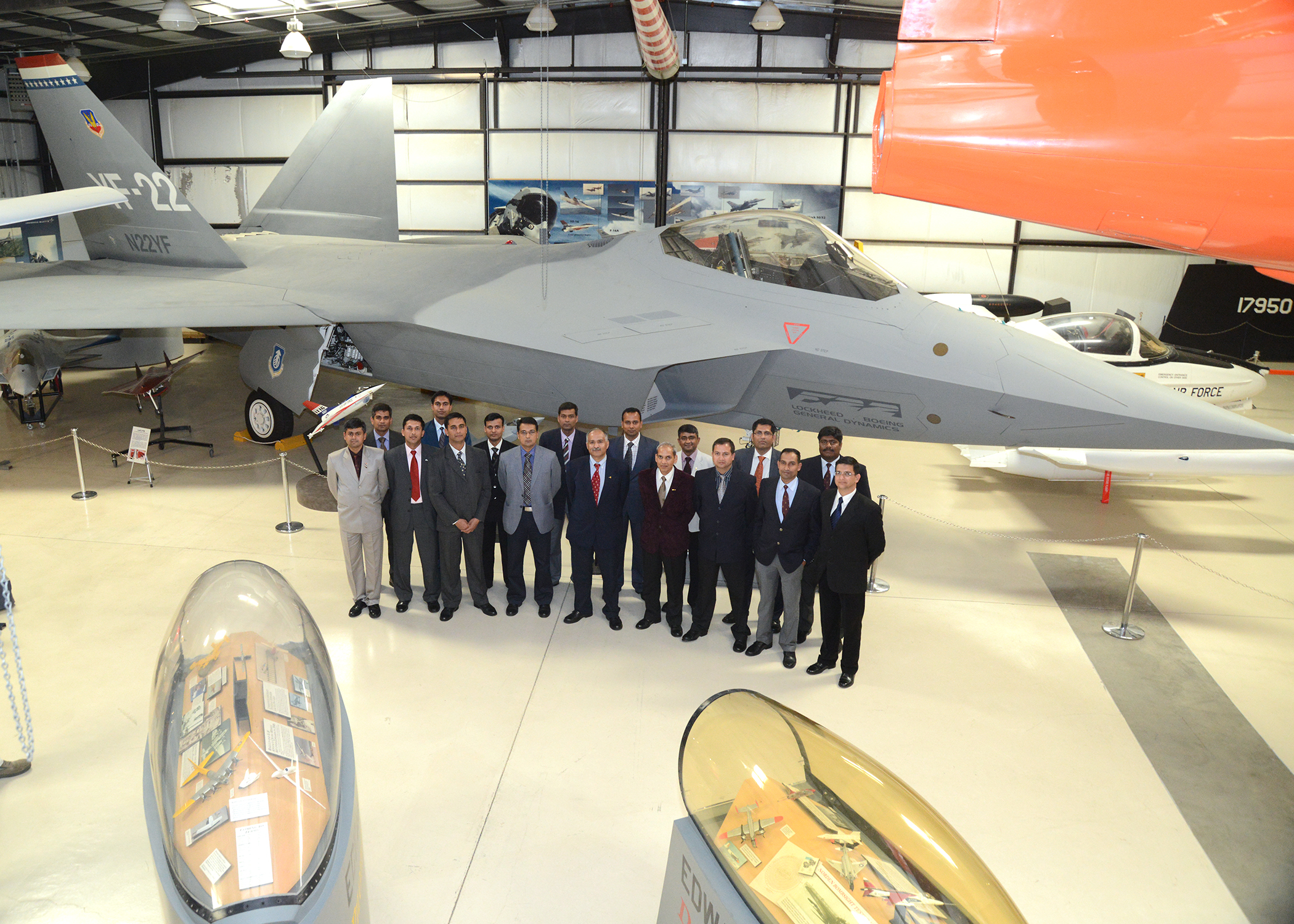 Indian test pilot students land at Edwards
