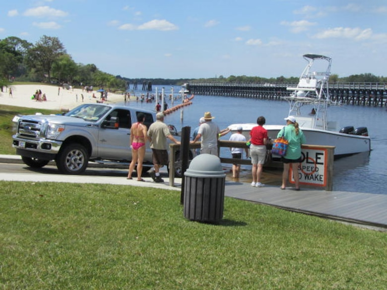 Boat Ramp at W.P. Franklin Lock & Dam in Alva Florida