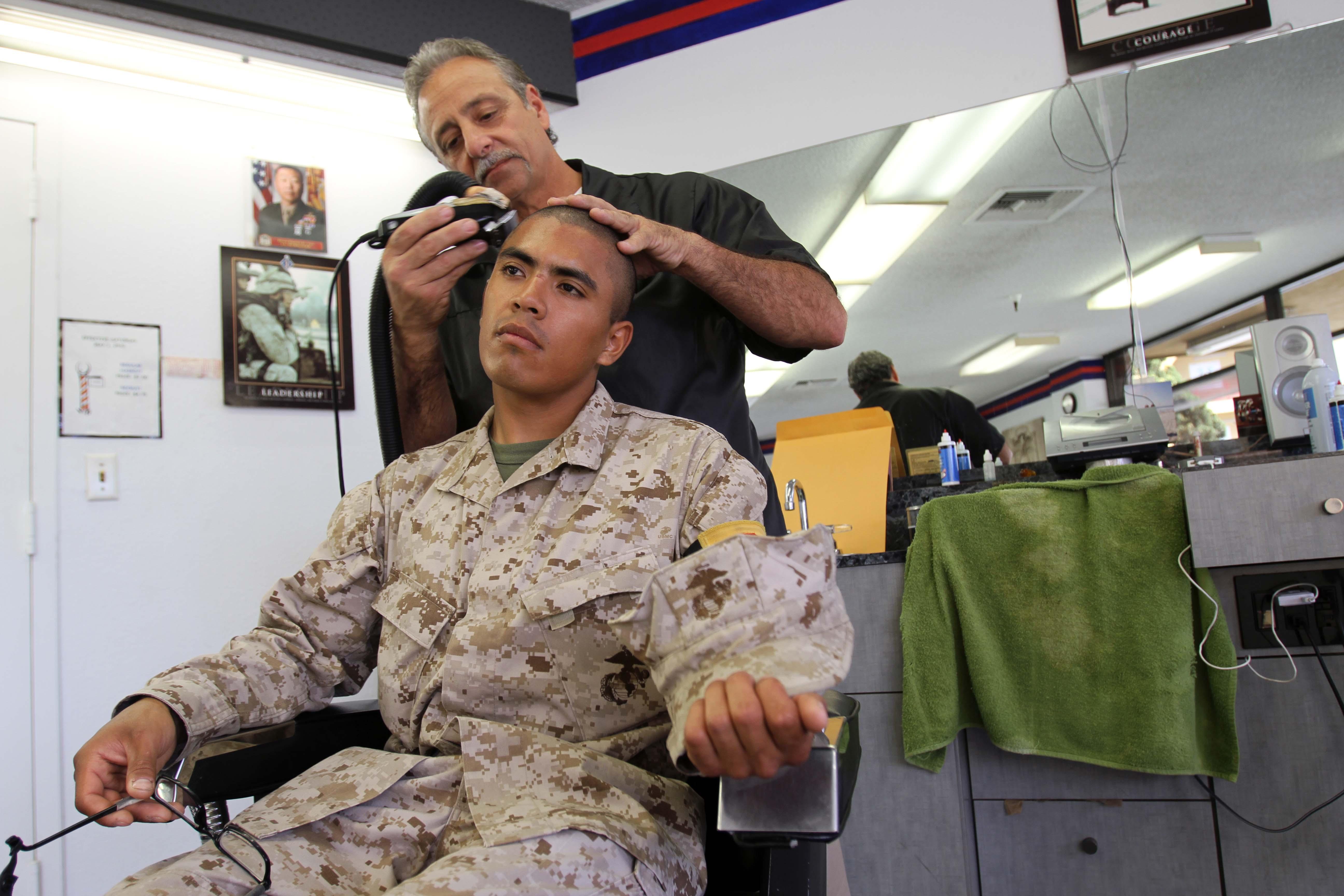 Haircuts Remove Individuality Marine Corps Recruit Depot San