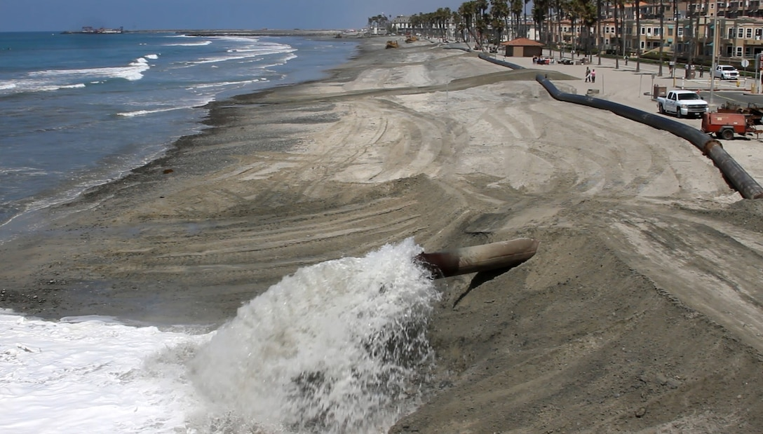 The dredging project deepened the federal channel north of Oceanside Pier and filled the beach adjacent to the pier with fresh, uncontaminated sand.