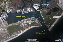 The Cold Spring Inlet maintenance project provides for a safe navigation channel for commercial and recreational fishing and U.S. Coast Guard use.