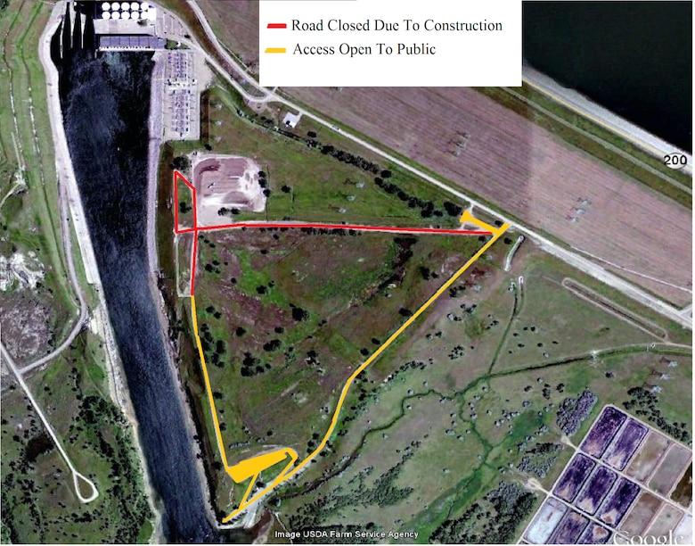 The East Tailrace access road will be closed today, May 13, 2013 until the fall of 2013 for the construction of a new switchyard for the Garrison Dam Powerplant. The East Tailrace can be accessed using the Tailrace Boat Ramp Road and the upper parking lot. Detour signs will be set up to show the new access route. A new East Tailrace access road will be constructed in the future around the south side of the new switchyard.