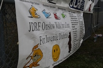 The Juvenile Diabetes Research Foundation sponsored the 7th Annual Walk to Cute Diabetes March 23 in Jacksonville, N.C. Over 400 people showed up to the event in support of finding the cure of type 1 diabetes. (Photo by Pfc. Justin A. Rodriguez/released)