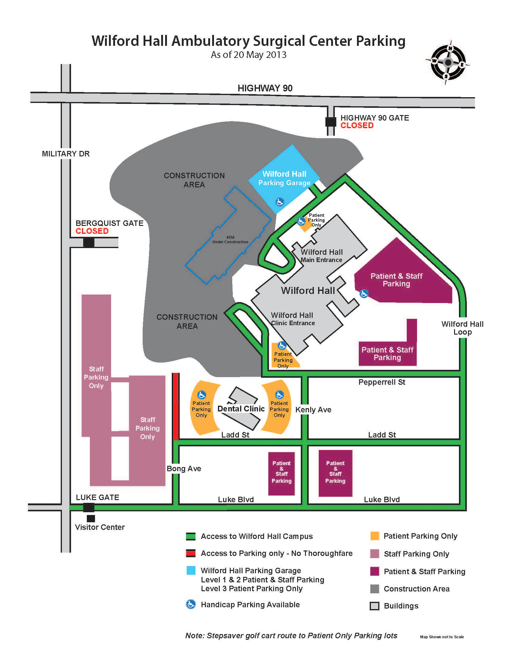 information on the new whasc parking garage. information on the new whasc parking garage  th medical wing