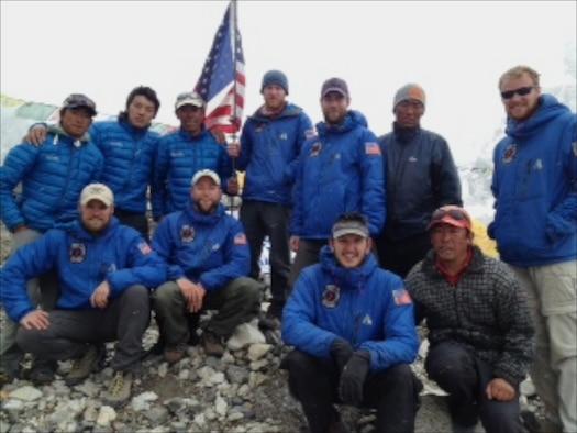 USAF 7 Summits Team with Sherpas. (Photo courtesy of USAF 7 Summits)