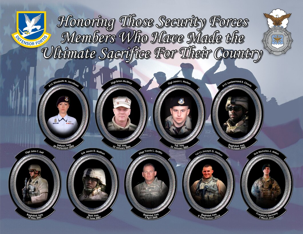 Honoring those Security Forces members who have made the ultimate sacrifice for their country.