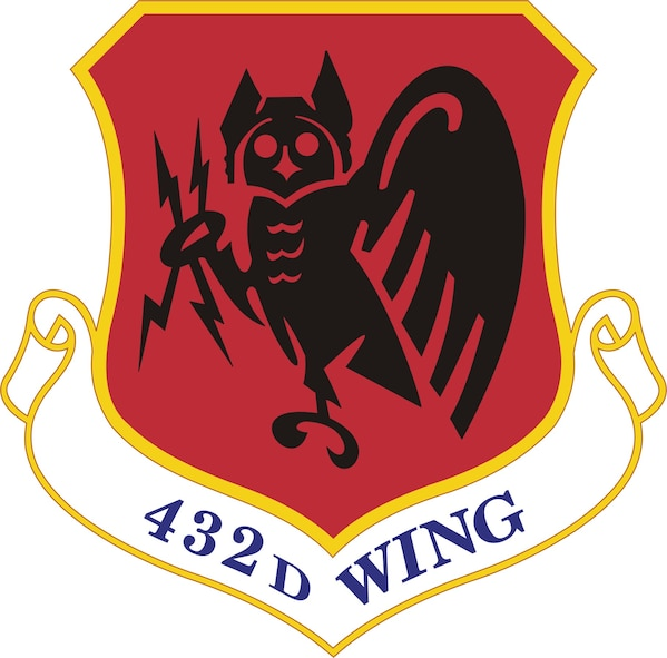 Emblem of the 432nd Wing, originally approved for the 432nd Tactical Reconnaissance Group on June 2, 1955.