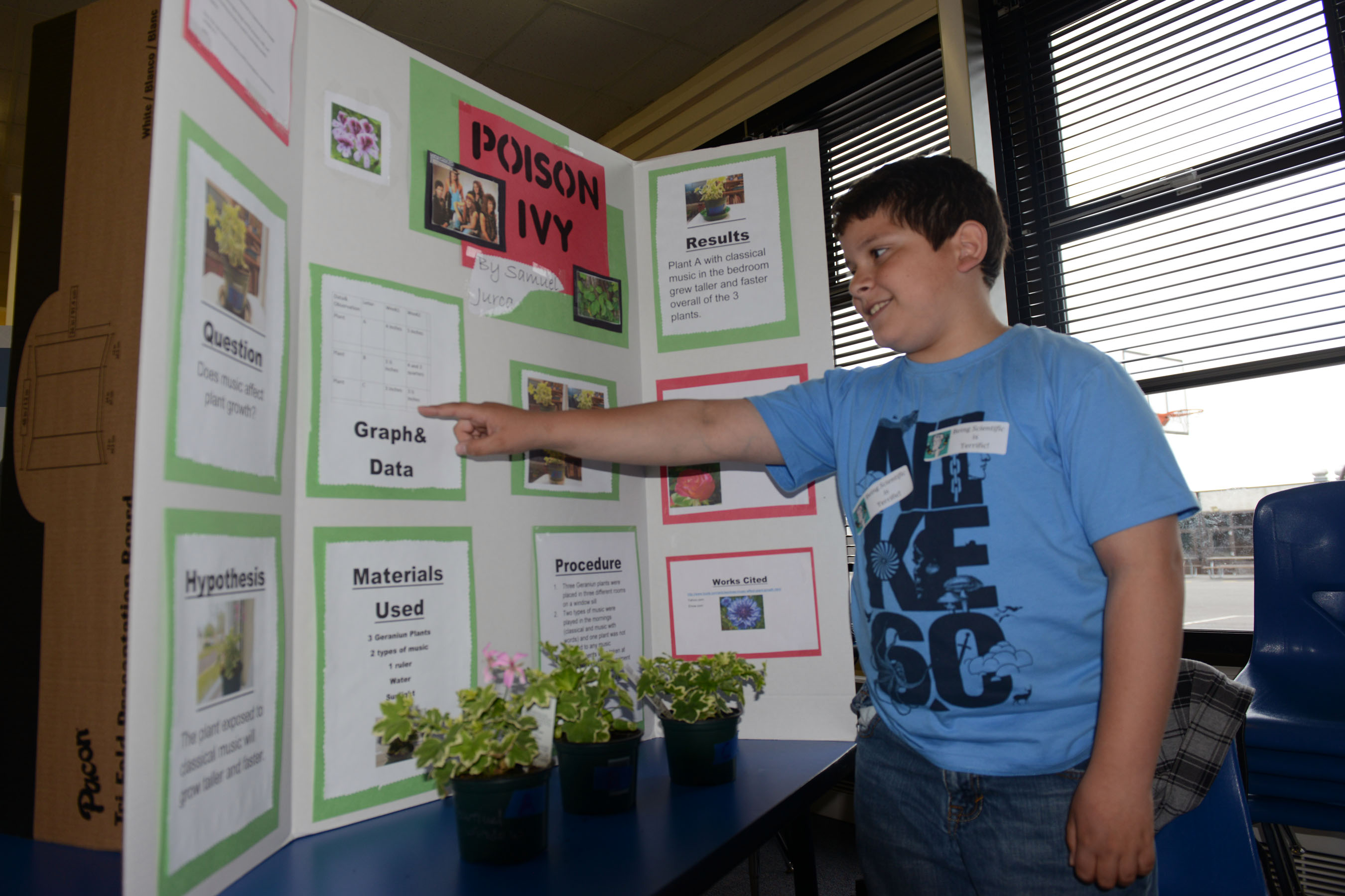 Alconbury Elementary Students Answer Questions With Science Fair