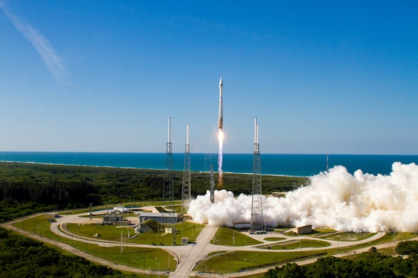 A United Launch Alliance Atlas V rocket successfully launched the fourth Global Positioning System IIF-4 satellite for the U.S. Air Force at 5:38 p.m. EDT, May 15, 2013, from Space Launch Complex-41, Cape Canaveral Air Force Station, Fla. (Courtesy photo/ULA)