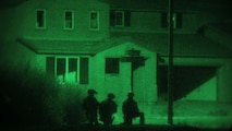 May 13, 2013: U.S Marines and Sailors with Maritime Raid Force, 13th Marine Expeditionary Unit establish security outside a building during Ground Realistic Urban Training at Brawley, Calif.