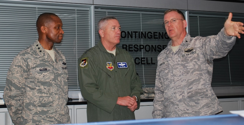 SCOTT AFB, Ill. - Brig. Gen. Larry Martin, Deputy Commander of the 618th Air