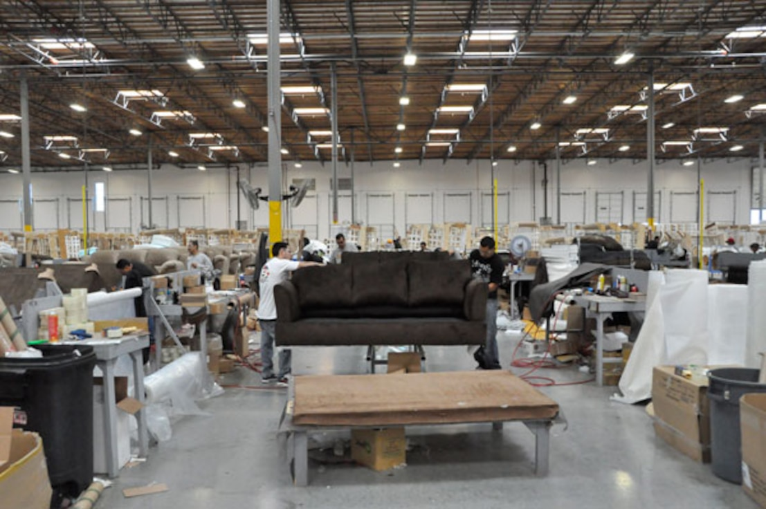 At the former George AFB in Victorville, Air Force collaboration with the local community enabled them to attract United Furniture Industries due to the ready-made facilities and pro-business atmosphere.
