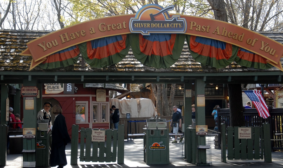 The Silver Dollar City theme park opened May 1, 1960. It has the timeless appeal of crafts and is dedicated to preserving 1880s Ozarks culture. Over 100 craftsmen are at the park demonstrating: glass blowing, blacksmithing, pottery, candy making, candle making, and many other disciplines. (U.S. Air Force photo by Senior Airman Regina Agoha)