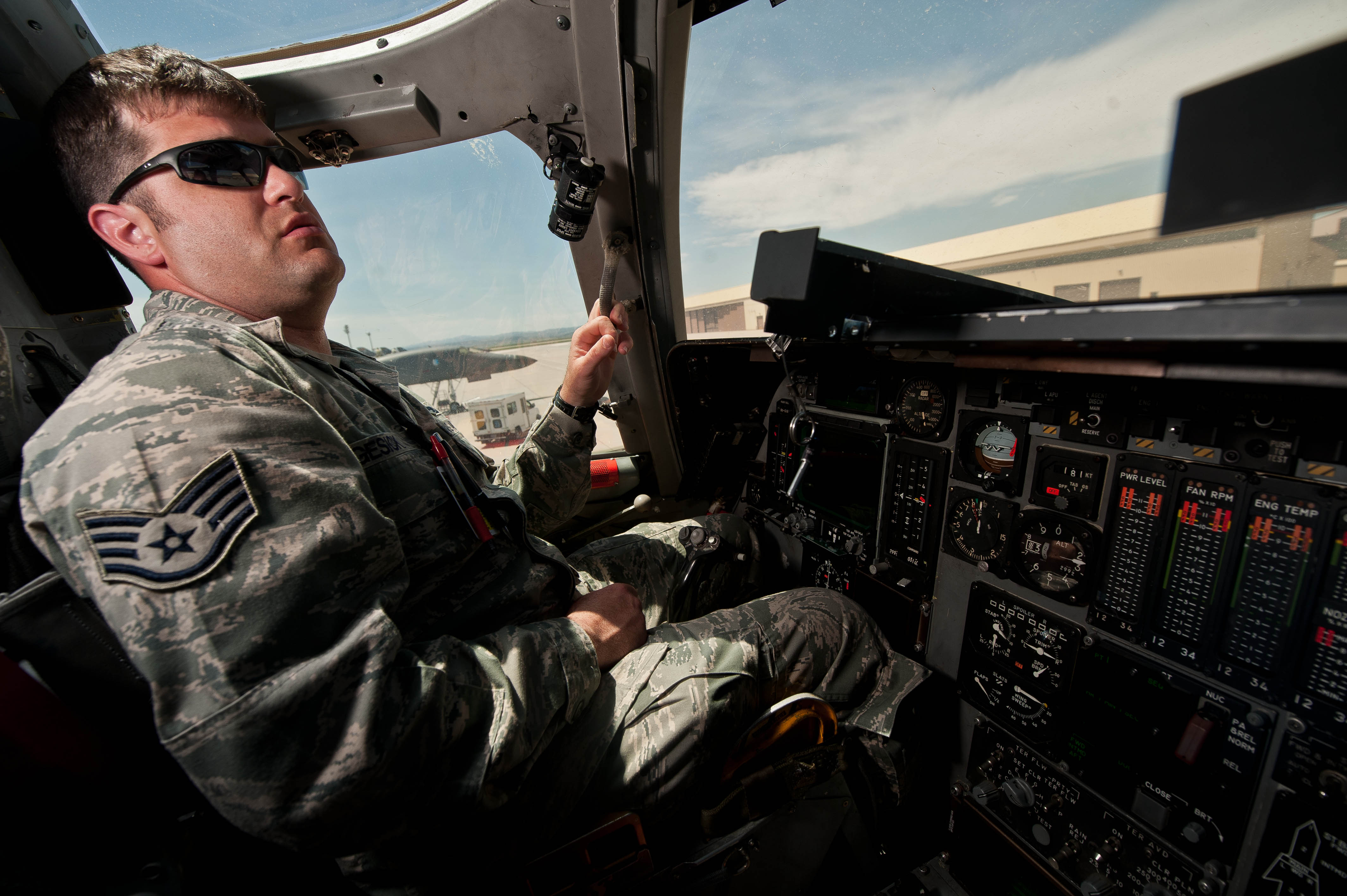 On the flightline with maintainers - Instrument Flight