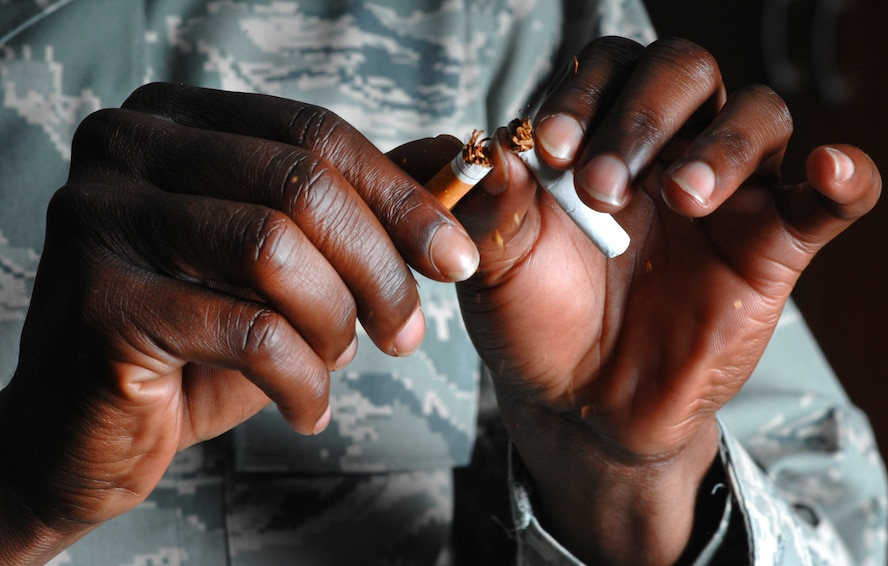 "Most have heard the old expression when growing up, ""never be a quitter."" Sometimes being a quitter is the best thing to do, especially when it comes to smoking. (U.S. Air Force photo by Senior Airman Anthony Sanchelli/Released)"