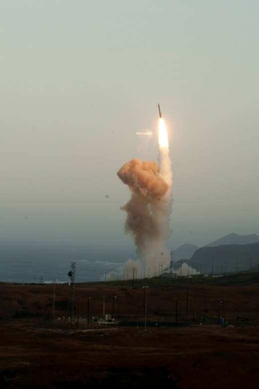 VANDENBERG AIR FORCE BASE, Calif.--An unarmed Minuteman III intercontinental ballistic missile was launched during an operational test at 6:27 a.m. here Wednesday from Launch Facility-4 on north Vandenberg. (U.S. Air Force photo/ Airman Yvonne Morales)