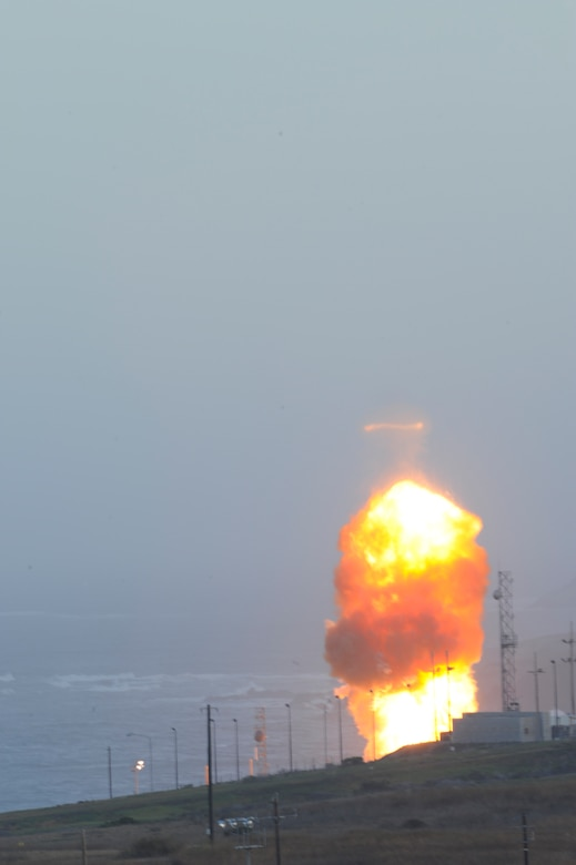 VANDENBERG AIR FORCE BASE, Calif.--An unarmed Minuteman III intercontinental ballistic missile was launched during an operational test at 6:27 a.m. here Wednesday from Launch Facility-4 on north Vandenberg. (U.S. Air Force photo/ Senior Airman Lael Huss)