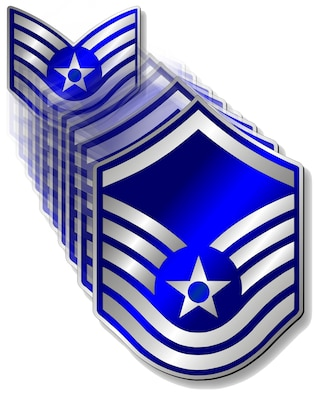 Fifty-three Desert Lightening Team Airmen here have been selected for promotion to the rank of master sergeant. Air Force-wide there were 20,528 Airmen eligible for promotion to the senior noncommissioned officer tier. (U.S. Air Force graphic by Airman 1st Class Christine Griffiths/Released)