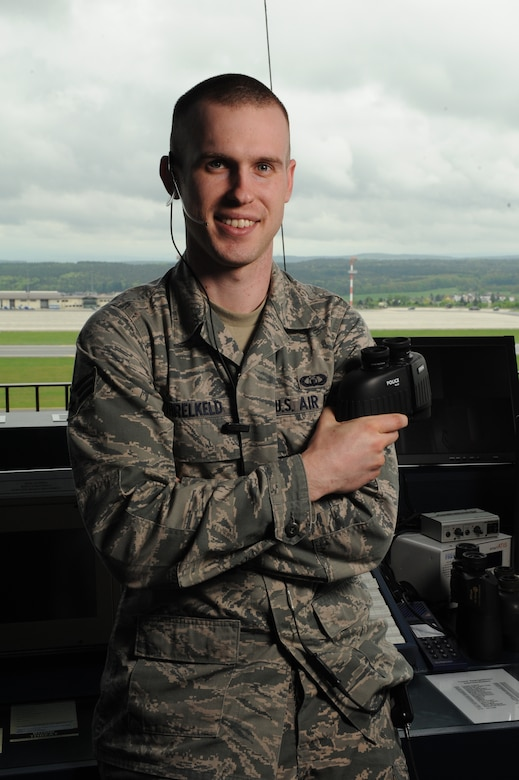 SPANGDAHLEM AIR BASE, Germany – U.S. Air Force Senior Airman Phillip Threlkeld, 52nd Operations Support Squadron air traffic control journeyman, is the Super Saber Performer for the week of May 23-29, 2013. (U.S. Air Force photo by Airman 1st Class Kyle Gese/Released)