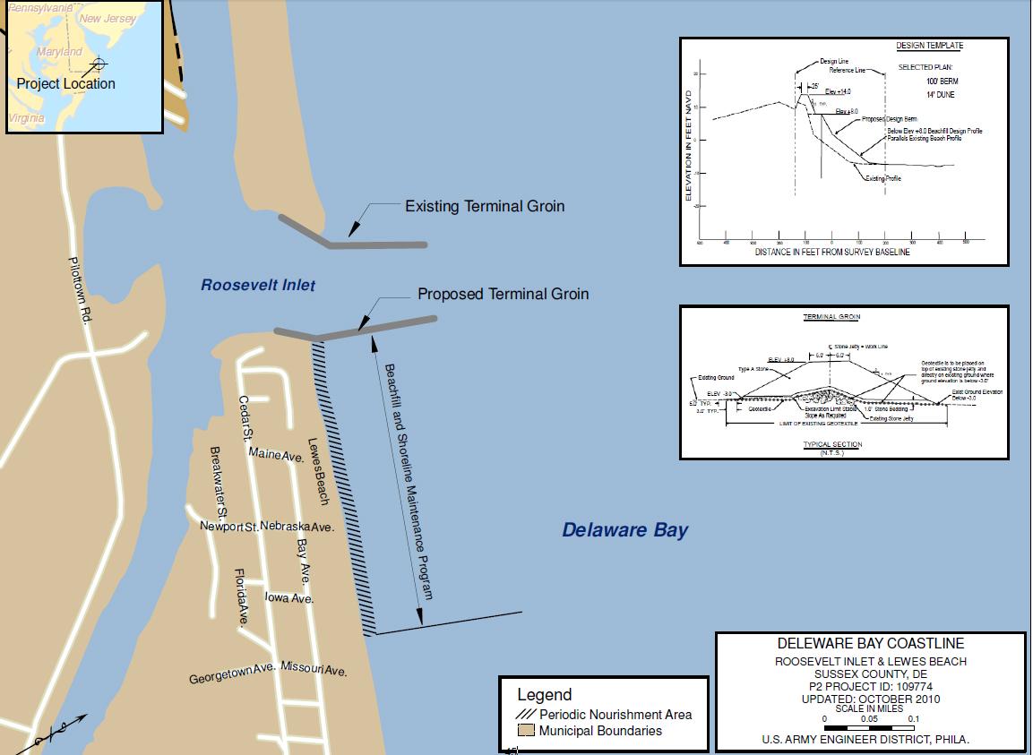 Delaware Bay Coastline Roosevelt Inlet Lewes Beach De