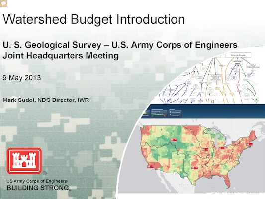 Watershed Budget Introduction, a presentation given by Mark Sudol, Navigation Data Center Director.