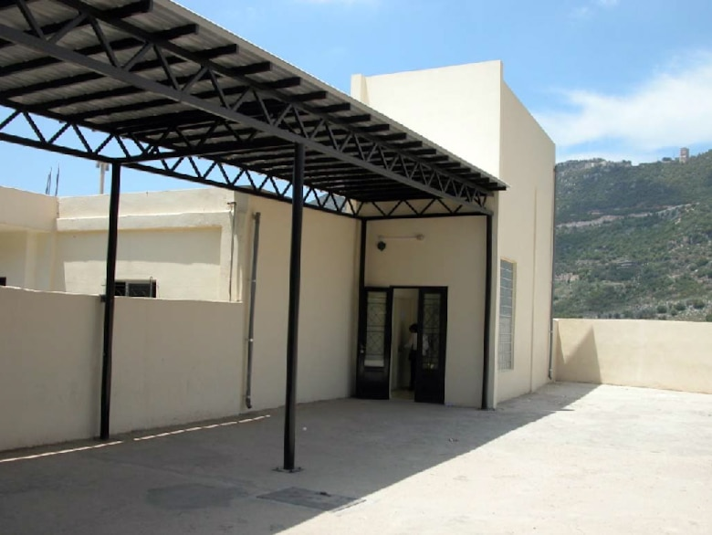 Renovation of the Almat School in Lebanon included construction of a new, more secure entrance area. Courtesy photo.