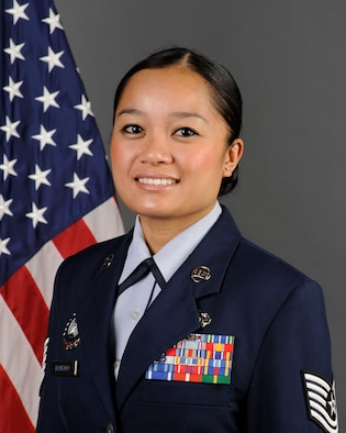 Tech. Sgt. Iris Honrado, Wyoming Air National Guard production recruiter, received the Federal Asian-Pacific American Heritage Council's Meritorious Service Award at a ceremony held in Long Beach, Calif., May 8, 2013.