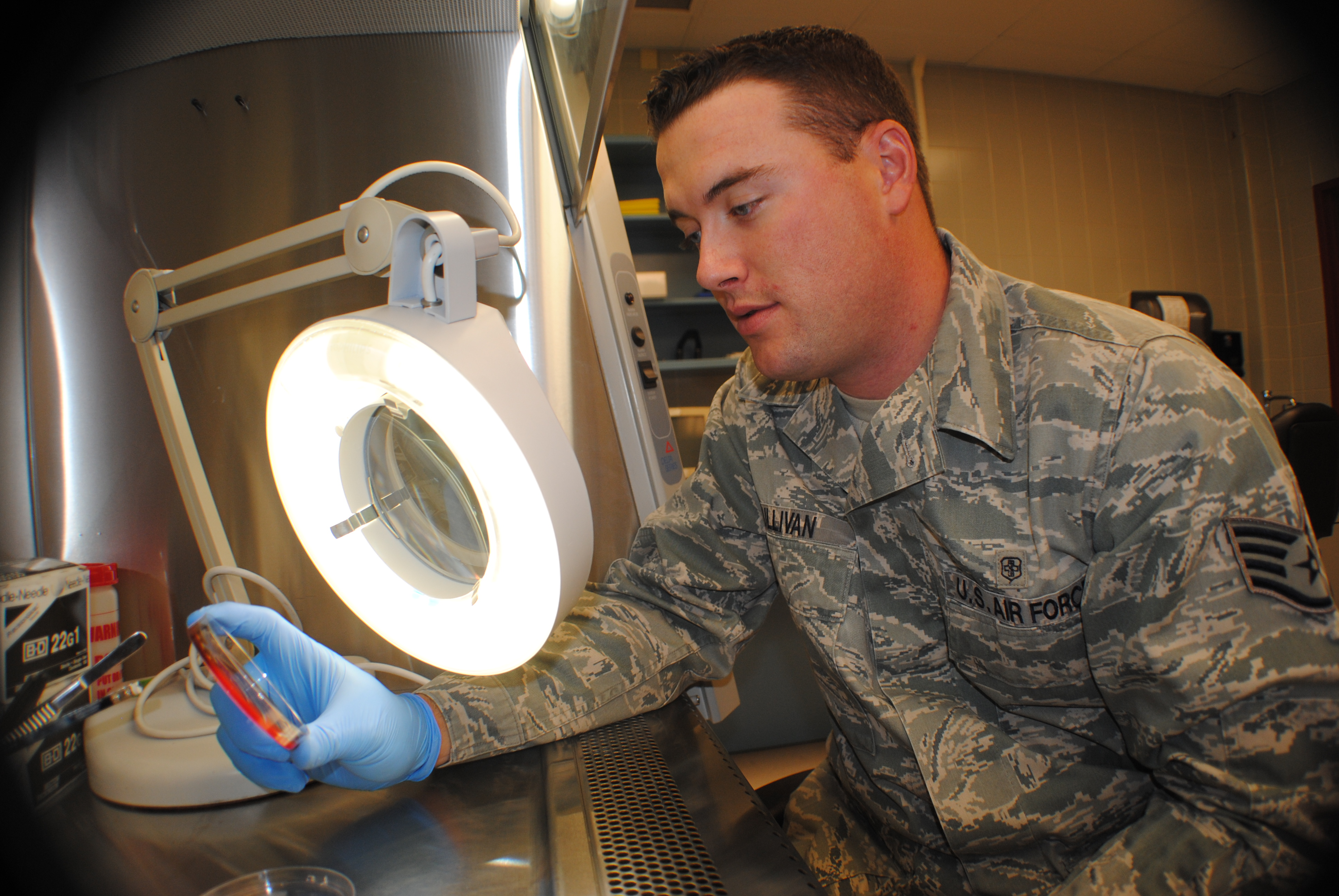 Day In The Life Of An Air Force Medical Lab Technician Air Mobility Command Article Display