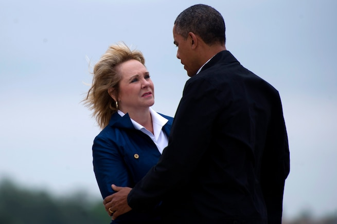 u s department of > photos > photo essays > essay view president barack obama greets oklahoma gov mary fallin on tinker air force base okla