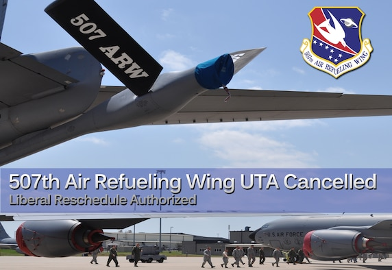 507th Air Refueling Wing leadership announced today that the Jun 1-2 Unit Training Assembly will be formally canceled due to the effects of the tornados that hit the area on May 19th and 20th. (Photo illustration by Senior Airman Mark Hybers)