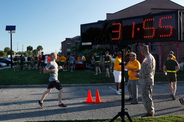 Semper Fit's 2nd Quarterly Road Race was held aboard Marine Corps Recruit Depot Parris Island, May 22. The event had more than 180 participants from the Air Station and Parris Island.