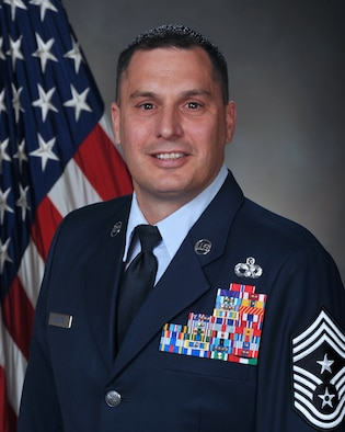 Chief Master Sgt. Daniel McGuire, 388th Fighter Wing command chief (U.S. Air Force photo)