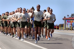 Volunteer's from Law Enforcement Battalion and Security Battalion here ran 17 miles across Camp Pendleton with the Special Olympics torch in support of the 2013 summer games here May 29.