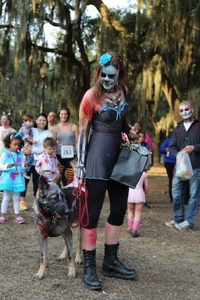 Chilling characters ran the streets during a zombie 5K run in Port Royal, S.C., Oct. 27. All proceeds from the run were donated to the Child Abuse Prevention Association.