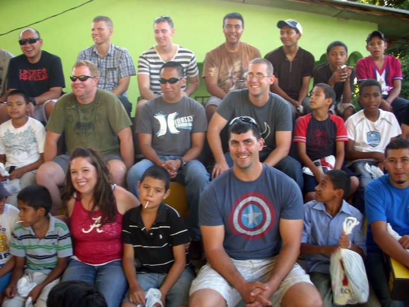 Members of Joint Task Force-Bravo's Army Forces (ARFOR) Battalion paid a visit to the children of the Horizontes al Futuro orphanage in Comayagua, Honduras, Nov. 3, 2013.  The ARFOR members brought sandwiches, chips and drinks for the children for lunch, and spent the day playing games and visiting with the kids.  (U.S. Air Force photo by Master Sgt. Terry LaBreck)