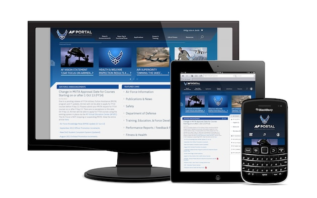 The Air Force Portal is undergoing a redesign that allows access on mobile devices, geared for easier navigation and operates in low bandwidth environments. The Global  Combat Support System, a Air Force Life Cycle Management Center-owned program, is responsible for the portal update, allowing more than 750,000 active users to stay connected.