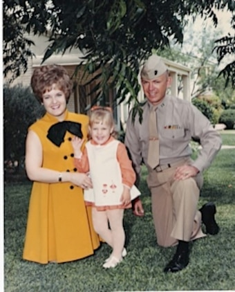 Sally Griffis, Capt. Bill Griffis III and Sarah Griffis taken before Capt. Griffis shipped out for his second tour of duty in Vietnam.