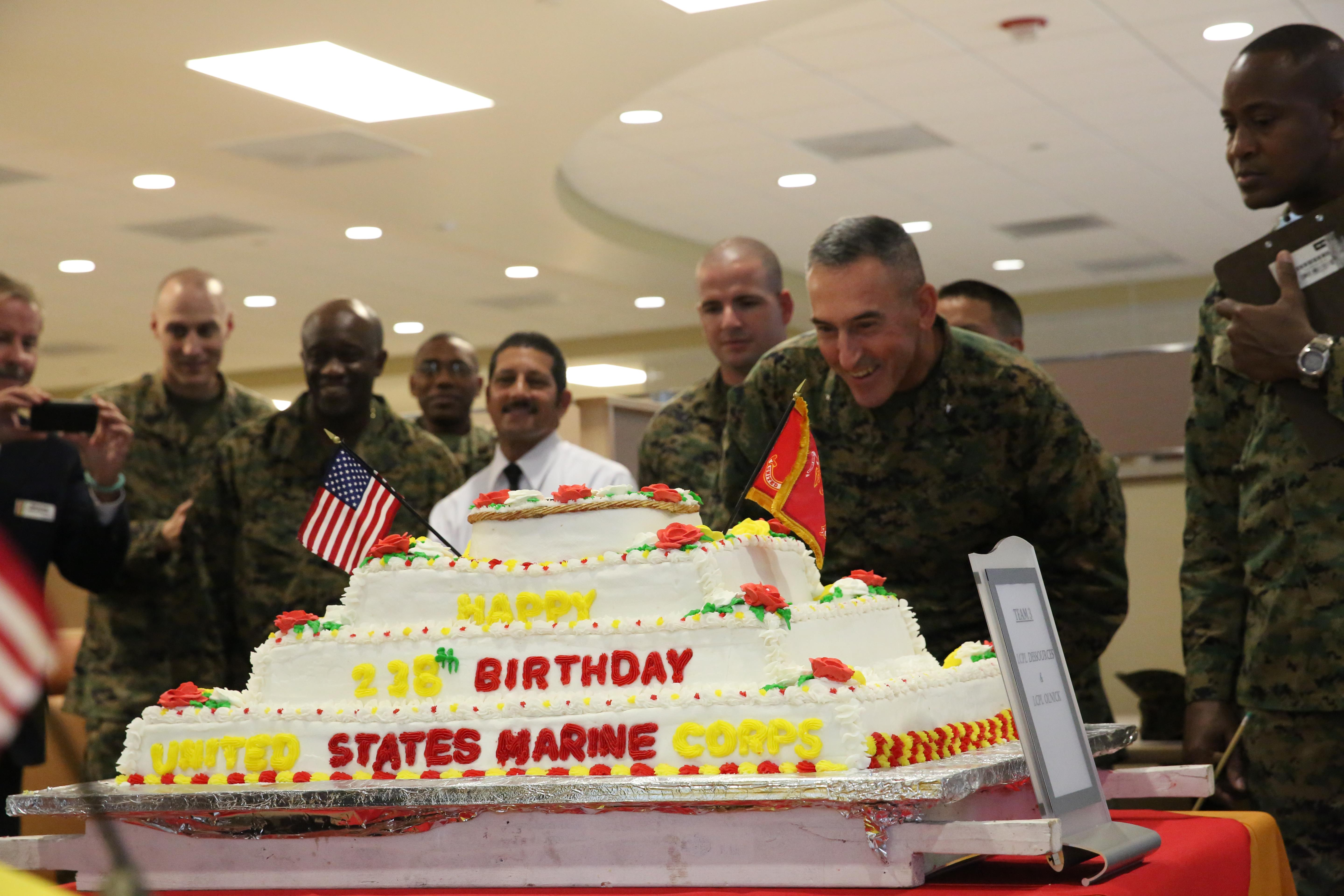 Food Service Marines Compete For Best Marine Corps Birthday Cake
