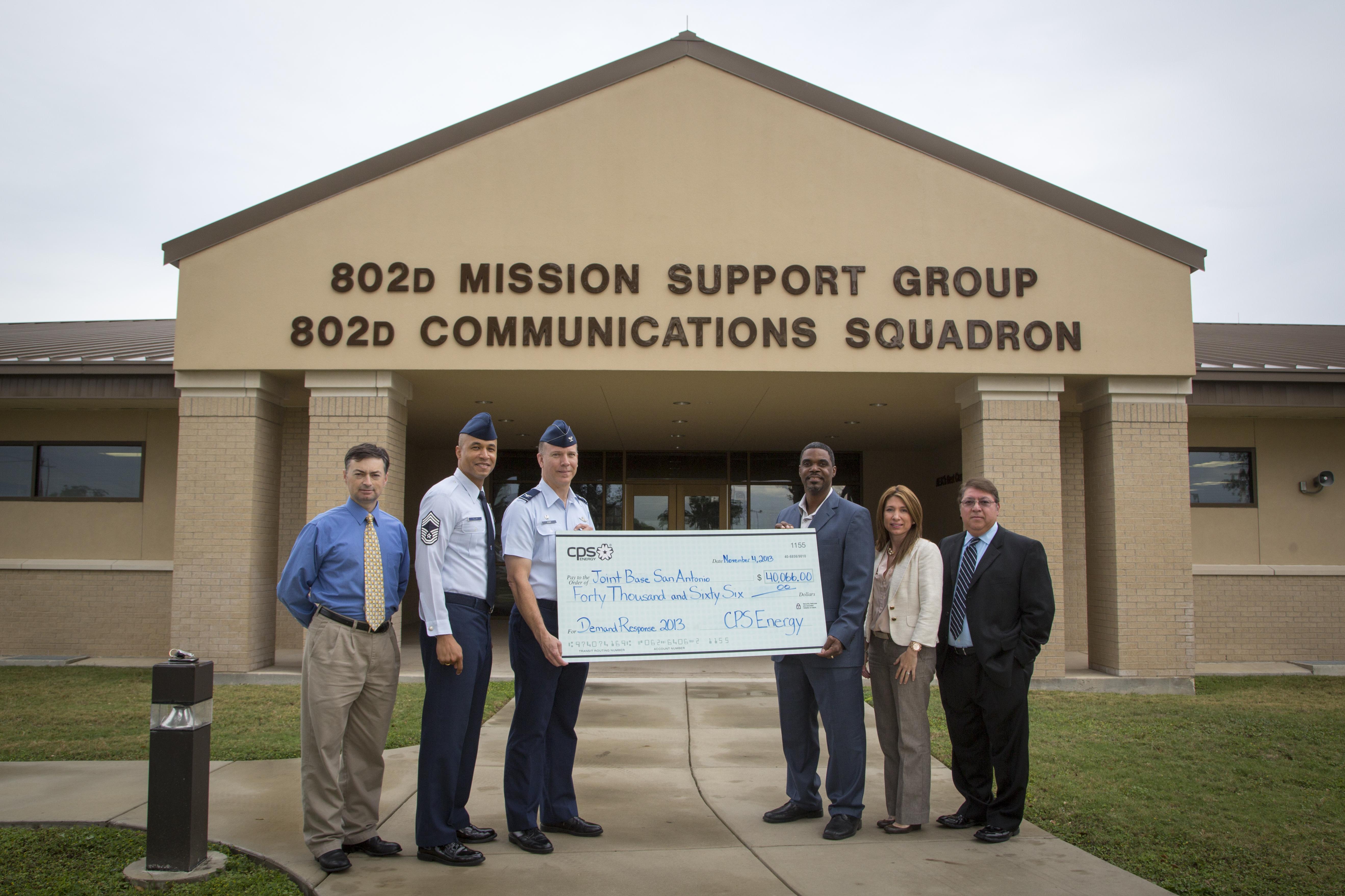 Jbsa Receives Rebate From Cps Energy Joint Base San Antonio News